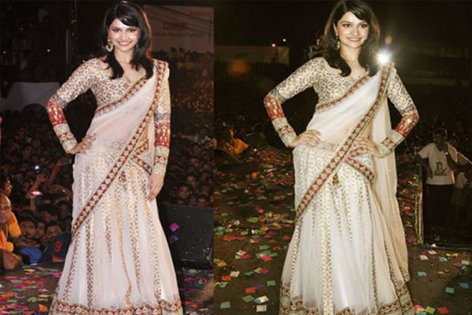 Different Styles of Wearing Party Sarees