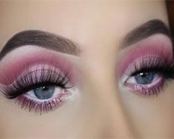 Red And Pink Cut Crease